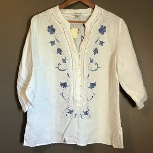 NWT! Cold water creek 100% linen blouse